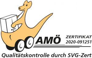 AMÖ Zertifikat für Senifix Umzug, der Spezialist für Seniorenumzüge für Chemnitz und Zwickau. Wir arbeiten bundesweit für Sie.